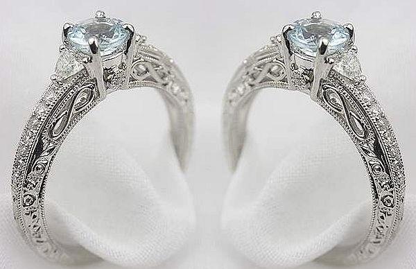 Engraved Vintage Diamond Rings